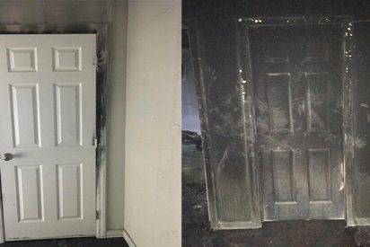Bombero demuestra que dormir con la puerta cerrada puede salvarte la vida