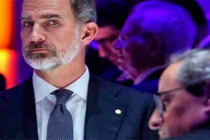 Esta mirada del Rey de España a Torra después de la chulería del presidente catalán lo dice todo
