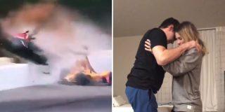 Vídeo: La hermosa sorpresa de un piloto que sufrió un terrible accidente a su novia
