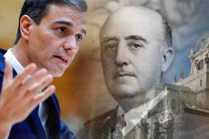 El 'okupa' Sánchez termina como empezó: con la farsa de Franco por bandera