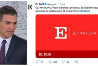 Otra más de Sánchez: filtra a El País que las elecciones generales serán el 28 de abril mientras él cuela un infumable mitin de 19 minutos al resto de periodistas