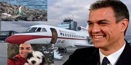 El Gobierno socialista se niega a revelar cuántas veces ha utilizado el 'okupa' Sánchez el Falcon oficial