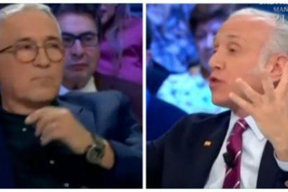 "Inda se revuelve ante la insidiosa pregunta de Xavier Sardá sobre la bandera española: ""Este símbolo os da arcadas"""