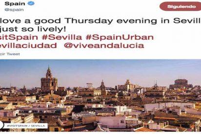 Estupefacción por esta foto que ha subido Turismo de España en Twitter: '¡madre mía que majaderos!'