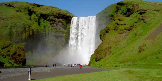 Las cascadas más bonitas del mundo: Skógafoss, Islandia