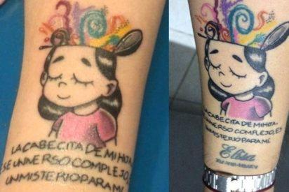 El conmovedor tatuaje en honor a su hija con autismo