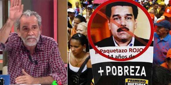 """Un venezolano le pinta la cara a Willy Toledo por su apoyo al criminal Maduro y él reacciona como el buen fascista que es: """"¡Te piras!"""""""