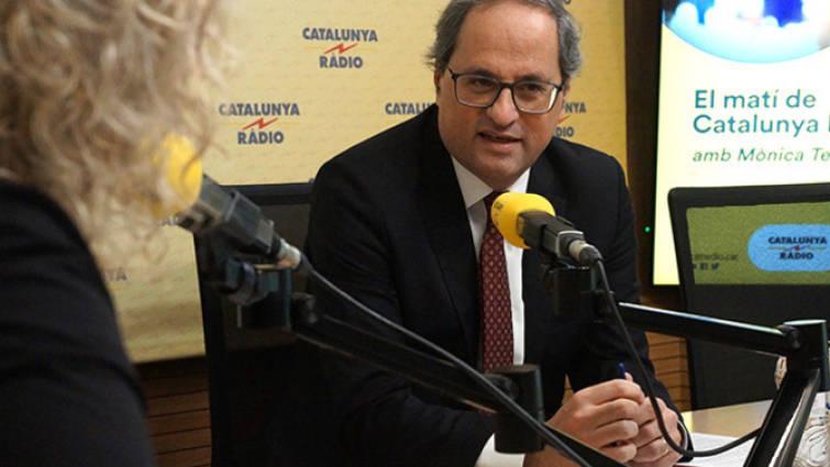 El cagueta Torra reconoce ahora al Estado español... para que no le partan la cara en Madrid