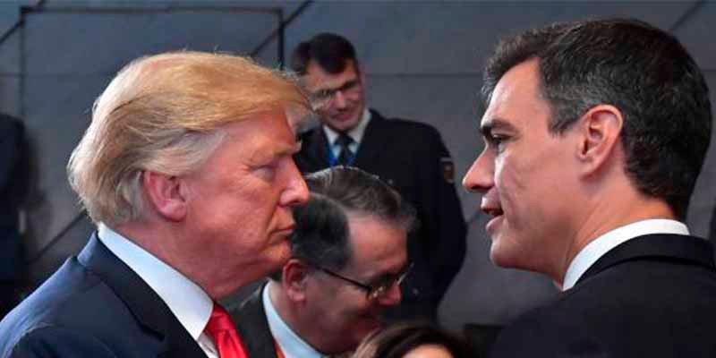 Donald Trump exigió al socialista Sánchez y a los dirigentes de la UE romper todo diálogo con Maduro