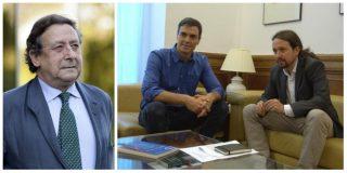 Alfonso Ussía destapa la reunión secreta entre Sánchez e Iglesias en un lujoso hotel horas antes de convocar las Generales