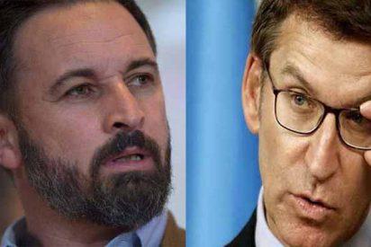 Núñez Feijóo y Santi Abascal se enzarzan con ferocidad por la política lingüística en Galicia