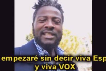 El vídeo del inmigrante de color que simpatiza con VOX y que pone negro de rabia al rojerío podemita