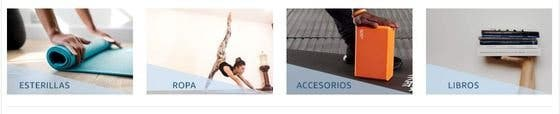 tienda yoga en Amazon