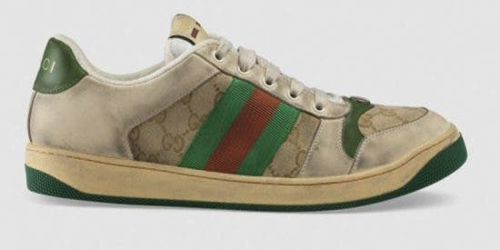 """""""Zapatillas sucias"""", el último lanzamiento surrealista de Gucci que cuesta 734 dólares"""