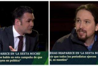 Barra libre de López a Iglesias para que insulte a Atresmedia, a Inda y a quien le plazca