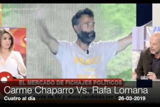 VOX ficha a Rafa Lomana y lo peor que se le ocurre decir a Carme Chaparro es ridículo