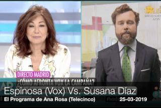 """Espinosa (VOX): """"¡Susana, contigo empezó todo!"""""""