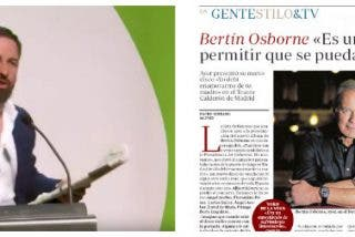 Santiago Abascal explota contra ABC por manipular unas palabras de Bertín Osborne para atacar a Vox