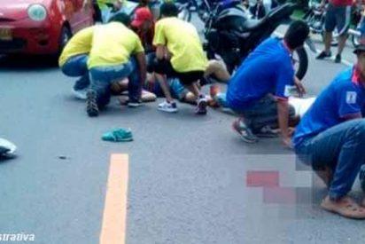 Accidente, sesos por los suelos y mucho sufrimiento tras un fatal accidente vial