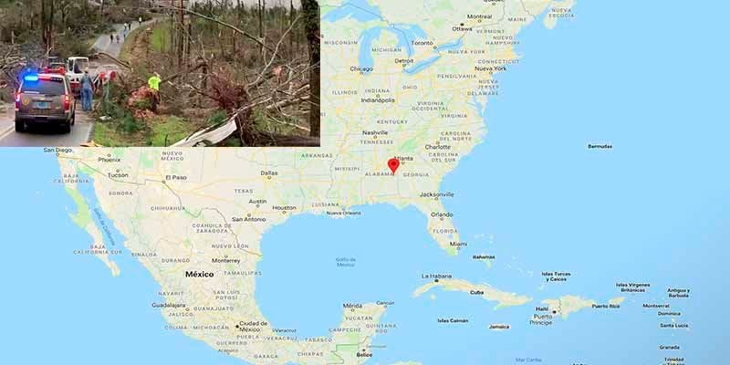 El paso de dos violentos tornados deja al menos 23 muertos en Alabama