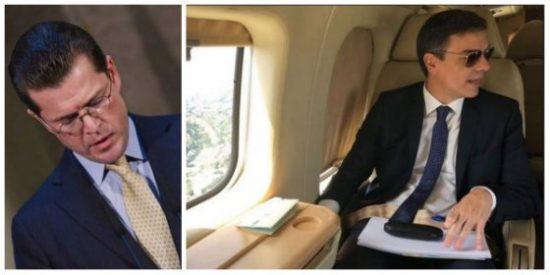 El mentiroso de Pedro Sánchez estaría dimitido en Alemania, pero en España puede seguir usando el Falcon