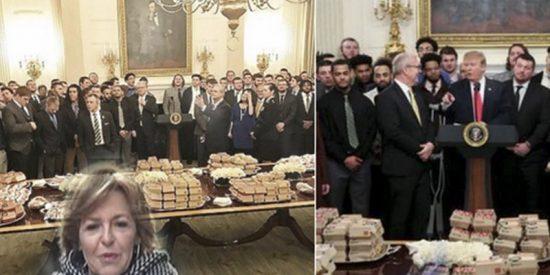 Almudena Ariza se pasa a la crítica culinaria para cargar contra el menú de Trump en la Casa Blanca