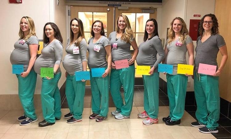 'Pleno' en embarazos: Nueve enfermeras de la misma unidad de partos esperan un bebé
