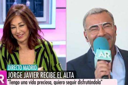 Jorge Javier 'resucita' en televisión con Ana Rosa tras recibir el alta médica en el Hospital