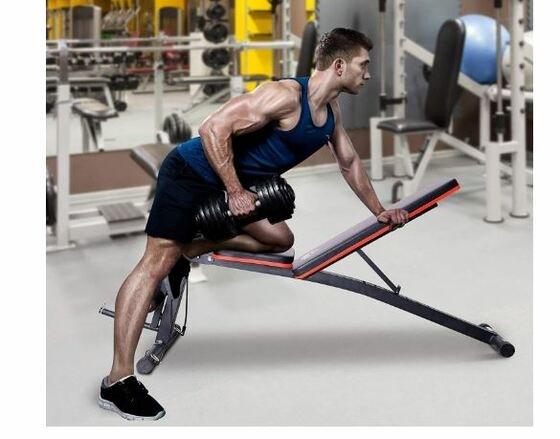 Banco de pesas- musculación, plegable, inclinable