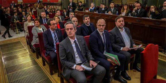 A los golpistas catalanes se les está poniendo color de hormiga el juicio en el Tribunal Supremo