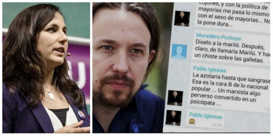 La podemita Ione saca su vena más feminista y macarra contra el PP y Twitter la sangra con los azotes de Iglesias