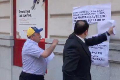 Vídeo: Agentes de seguridad boicotean la protesta en la vivienda de un testaferro del chavismo en Madrid