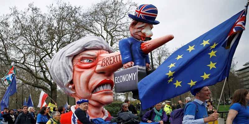 Gigantesca manifestación en Londres en pro de un segundo referéndum sobre el Brexit