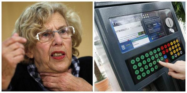 Carmena y su afán sancionador: no retira los 'parquímetros trampa' de Madrid Central