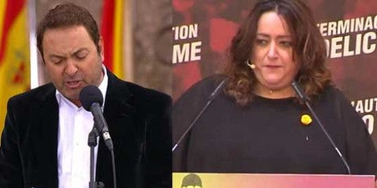 Albert Castillón se la tenía guardada a la esbirra de Jaume Roures, Patricia López, y la deja lcon as vergüenzas al aire por su 'pregón' en el 'akelarre independentista' de Madrid