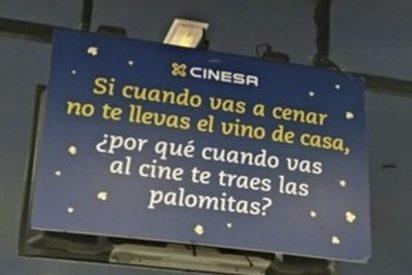 CINESA denuncia con este cartel la entrada de comida a sus cines y recibe esta brillante respuesta…