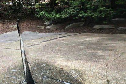 """La imagen de este """"coche invisible"""" triunfa en Internet: nadie lo ve a la primera"""