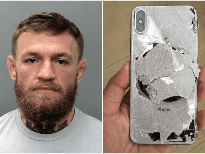 Arrestan a Conor McGregor: Robó y destrozó el celular a un hincha pesado