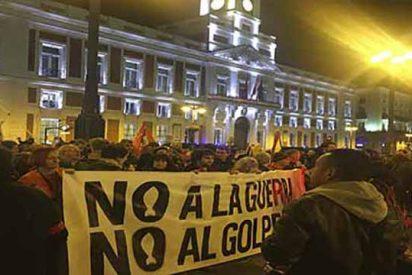 """PD en las entrañas de la manifestación chavista en Madrid: """"No quemaron ayuda, sino comida envenenada"""""""