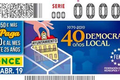 El cupón de la ONCE celebra los 40 años de Ayuntamientos democráticos