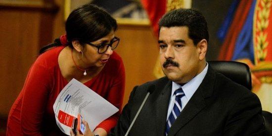 """La chavista Delcy Rodríguez adelanta que """"tomarán medidas"""" contra Juan Guaidó"""