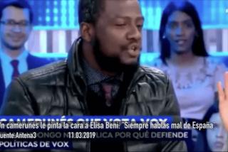 "Un camerunés se come con patatas a Elisa Beni: ""España es un país maravilloso, si a usted no le gusta, pues márchese"""