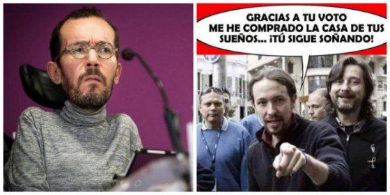 """Twitter humilla y le baja la euforia a 'Echeminga' con el acto de Iglesias: """"Va a haber más gente en el bar Brillante"""""""