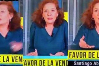 Cristina Fallarás interviene en TV3 en un lamentable estado y un tertuliano en la mesa es cazado haciendo el gesto de ir borracha
