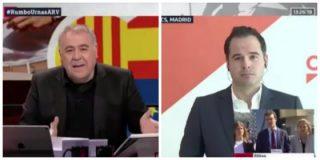 La cara de García Ferreras es de tragedia griega ante la doble intención electoral de Aguado (Ciudadanos)
