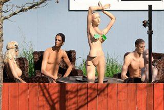 Se venga de las quejas de un vecino organizando una fiesta 'nudista'