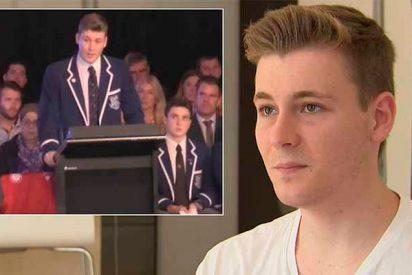 El emocionante discurso de graduación de un chico gay en un colegio católico