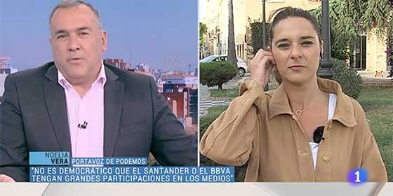 ¡Qué chollo es tener a Xabier Fortes de 'entrevistador'! Noelia Vera raja de los medios privados y también de los públicos y el de TVE ni se inmuta