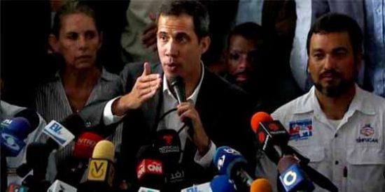 Juan Guaidó anunció un paro escalonado de trabajadores públicos en Venezuela
