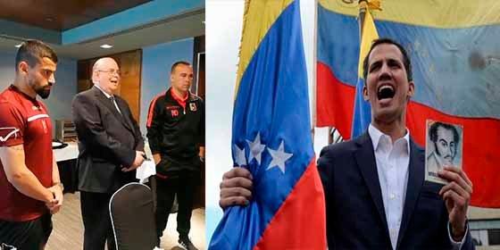 La vinotinto reconoció a Guaidó como presidente y dio la victoria a Venezuela ante Argentina
